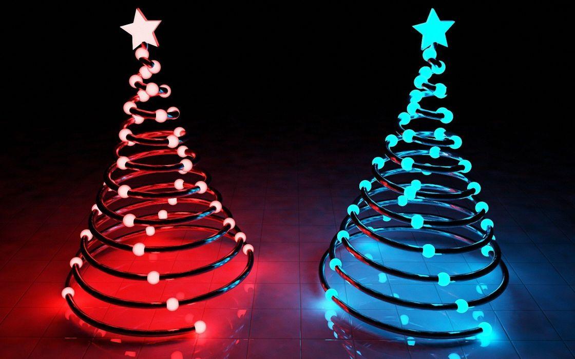 Christmas lamps wallpaper