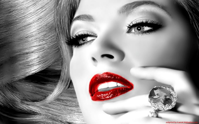 women lips jewelry selective coloring faces wallpaper