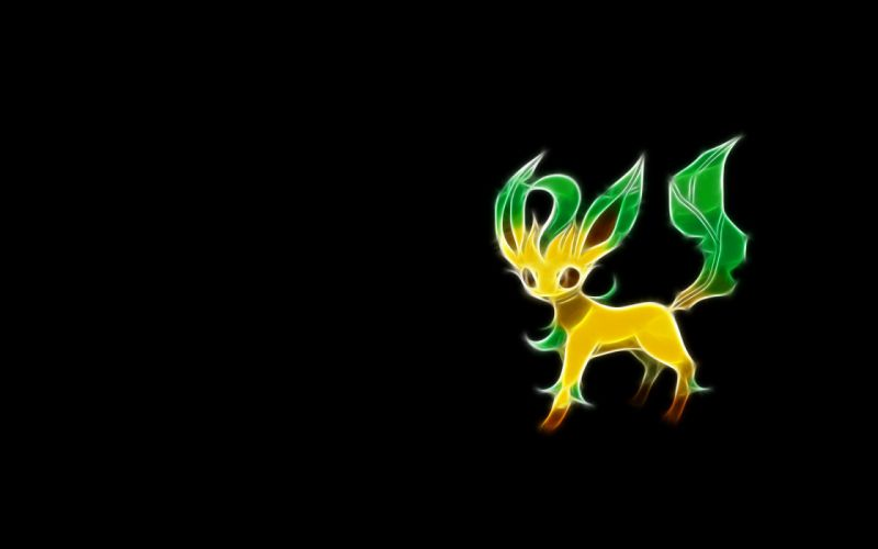 Pokemon Fractalius simple background black background wallpaper