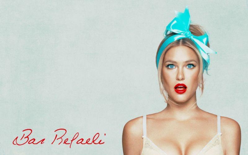 women blue eyes Bar Refaeli simple background faces models wallpaper
