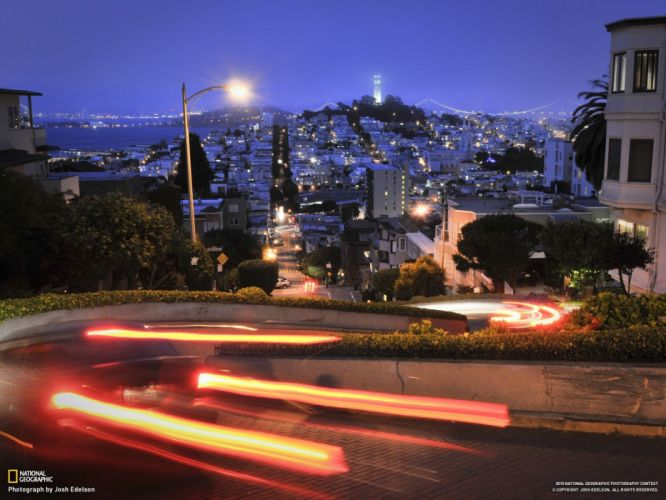 lights National Geographic San Francisco cities wallpaper
