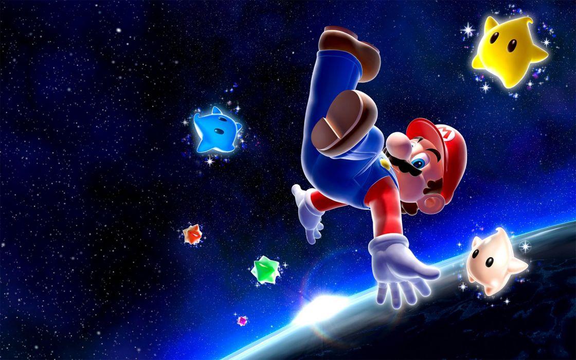 Nintendo video games galaxies Mario Super Mario Nintendo Wii wallpaper