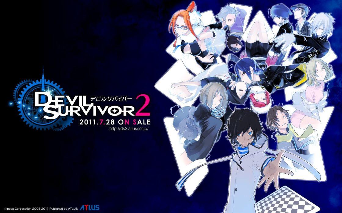 anime anime girls Devil Survivor 2 The Animation wallpaper