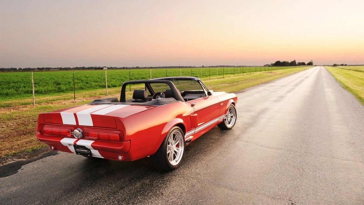 widescreen Ford Mustang GT500 Cabrio wallpaper
