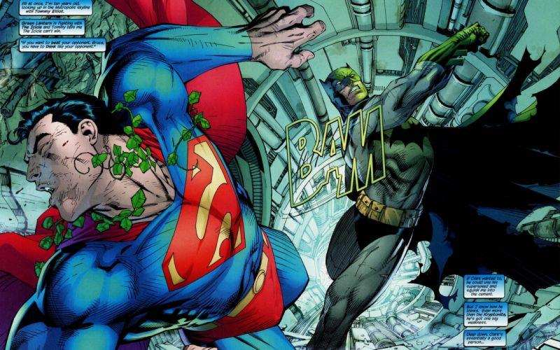Batman DC Comics Superman leaves superheroes punching dialogue bubble wallpaper