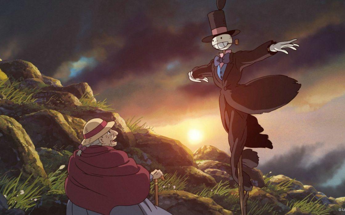 Hayao Miyazaki castles Howl's Moving Castle wallpaper