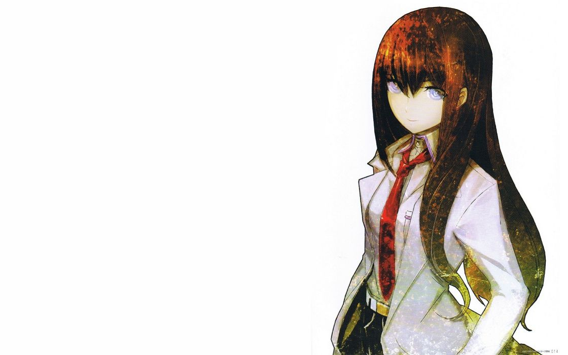 Steins;Gate Makise Kurisu Huke simple background anime girls white background wallpaper