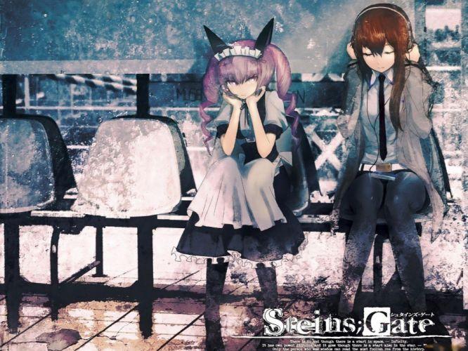 nekomimi animal ears anime Steins;Gate Makise Kurisu anime girls Akiha Rumiho wallpaper
