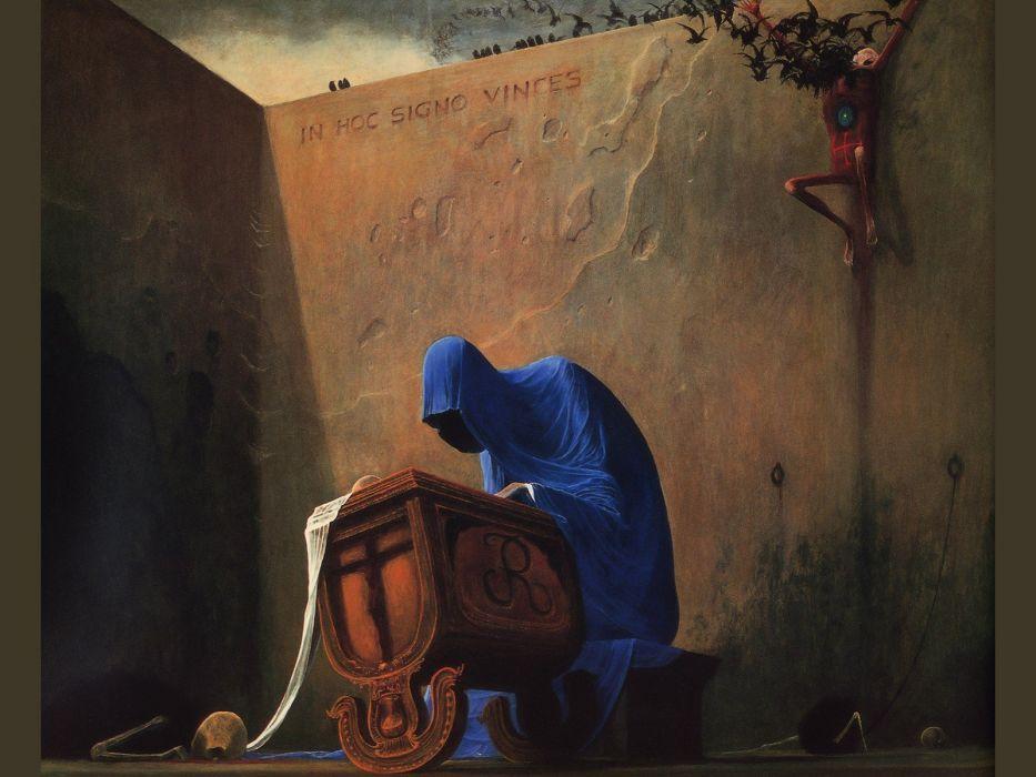 fantasy art artwork Zdzislaw Beksinski wallpaper