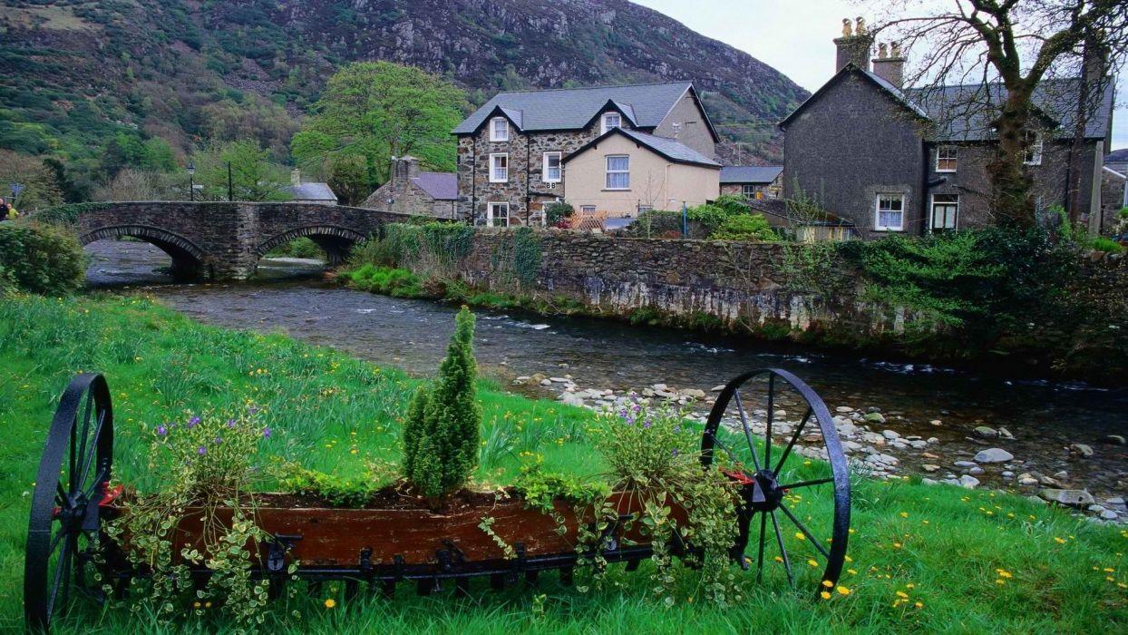 Wales villages National Park wallpaper
