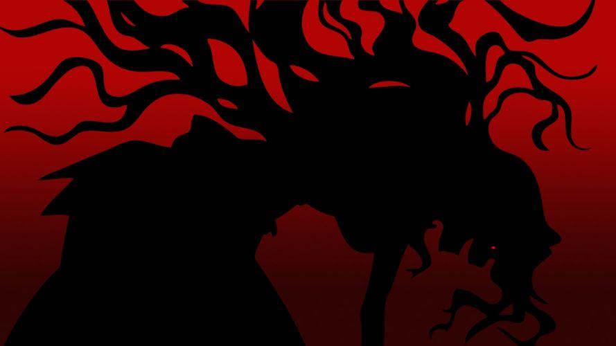 silhouettes vectors anime wallpaper