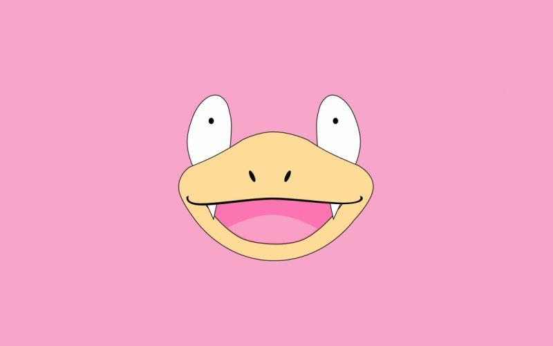 Pokemon Slowpoke simple background wallpaper