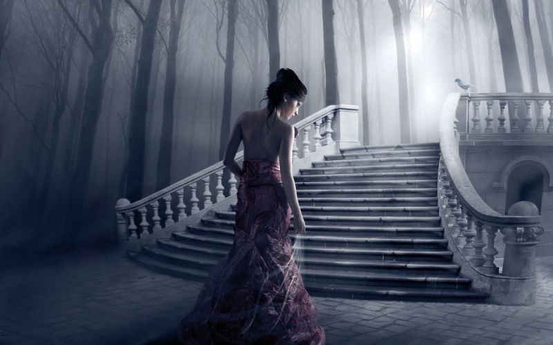photo manipulation ghostly wallpaper