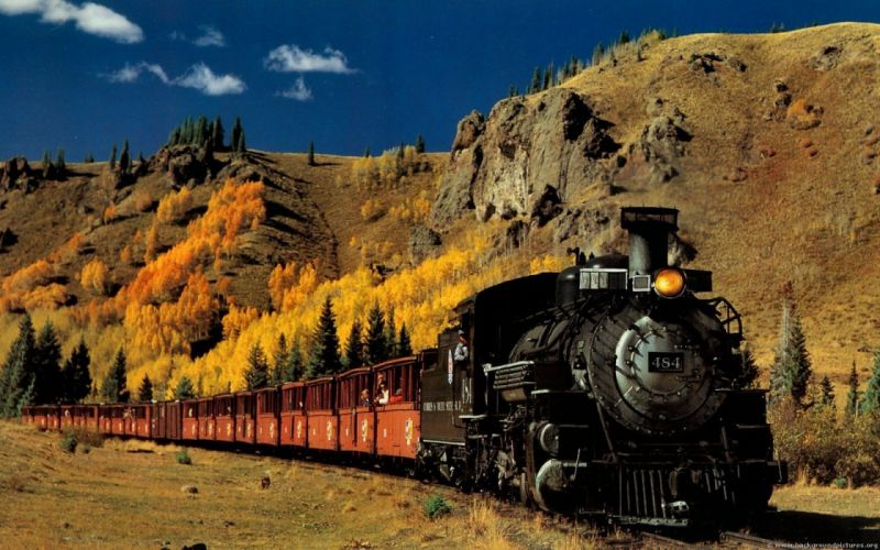 vintage trains wallpaper