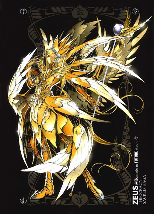 Saint Seiya anime Zeus anime girls wallpaper