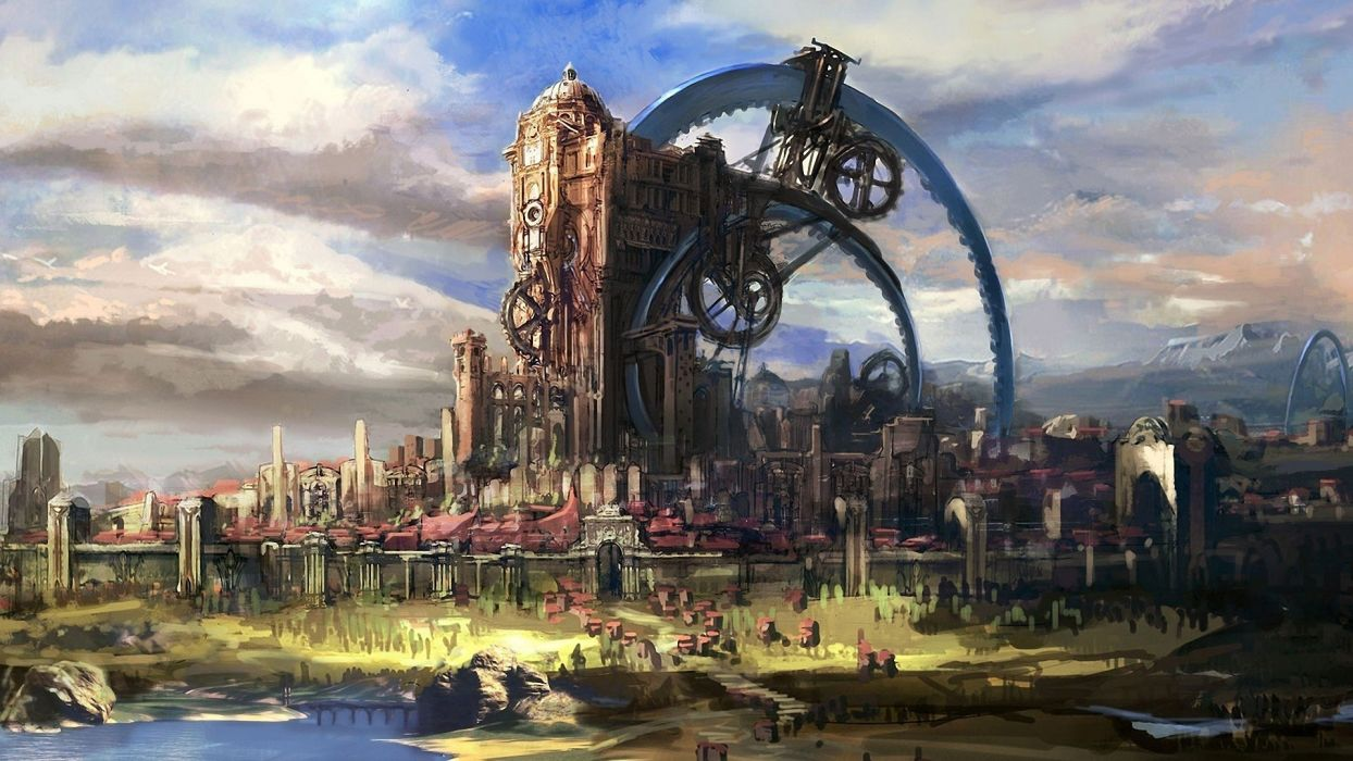 cityscapes fantasy art artwork Tera Online wallpaper