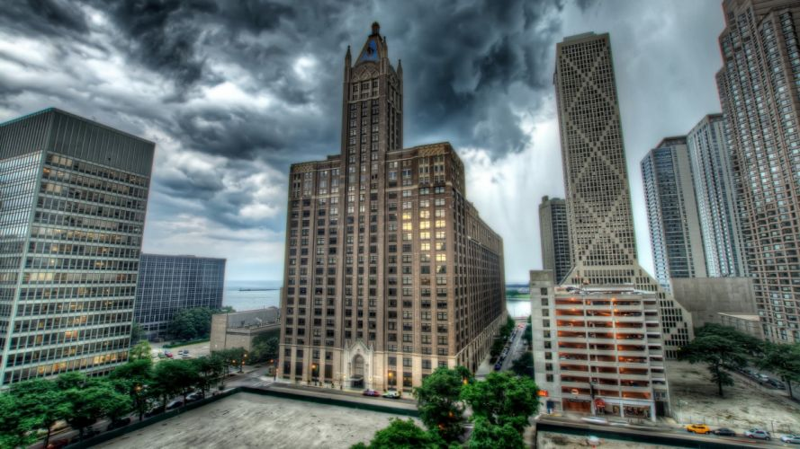 cityscapes architecture towns skyscrapers HDR photography wallpaper