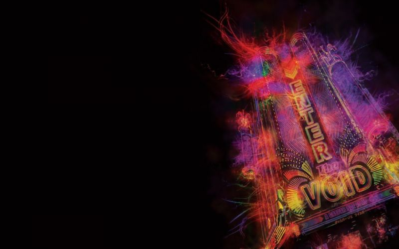 black movies Enter the Void neon lights wallpaper