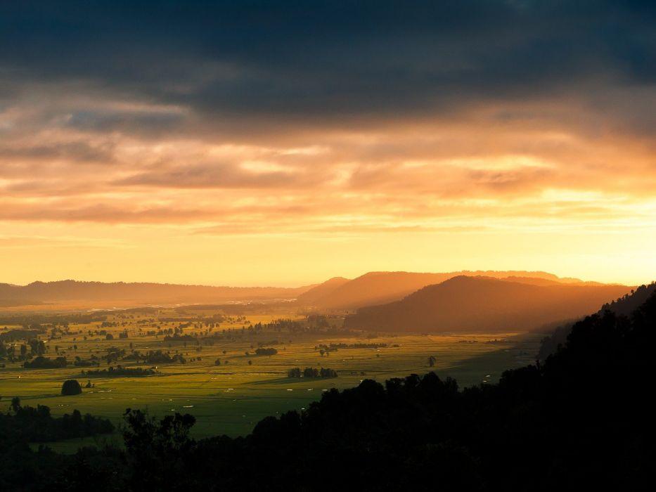 sunrise mountains landscapes nature wallpaper