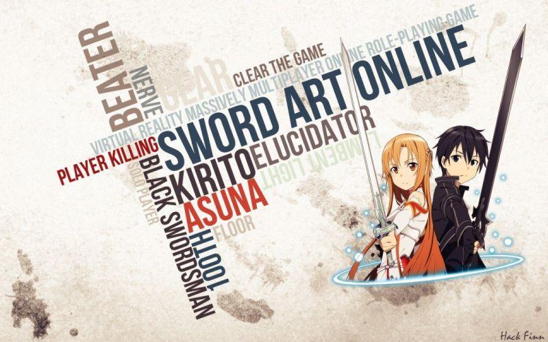Sword Art Online Yuuki Asuna Kirigaya Kazuto wallpaper