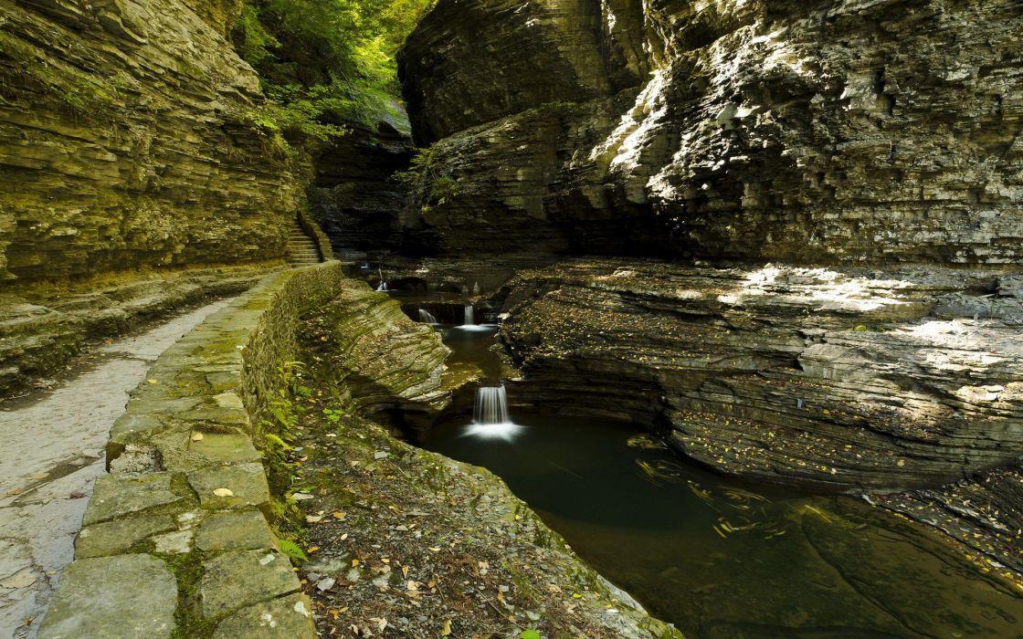 landscapes nature spring rock wallpaper