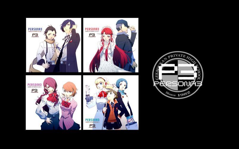 Persona series Persona 3 Arisato Minato Kirijo Mitsuru Yamagishi Fuuka Iori Junpei Takeba Yukari Amada Ken Mochizuki Ryouji Yoshino Chidori Aigis wallpaper
