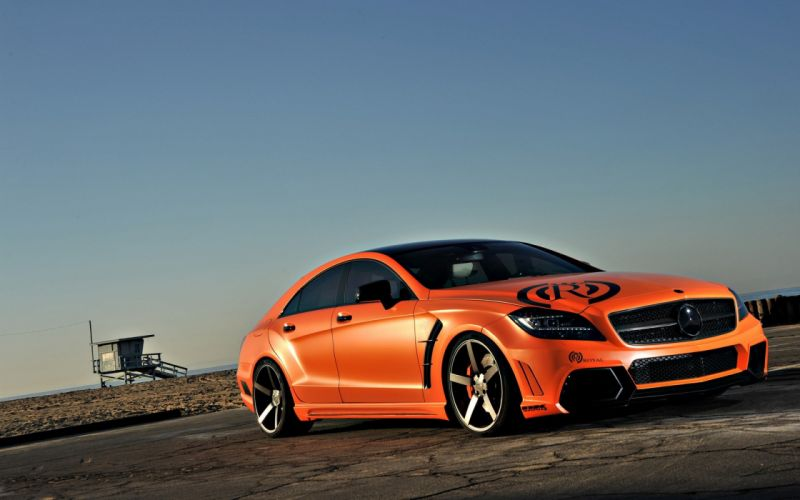 tuning Mercedes-Benz orange cars wallpaper