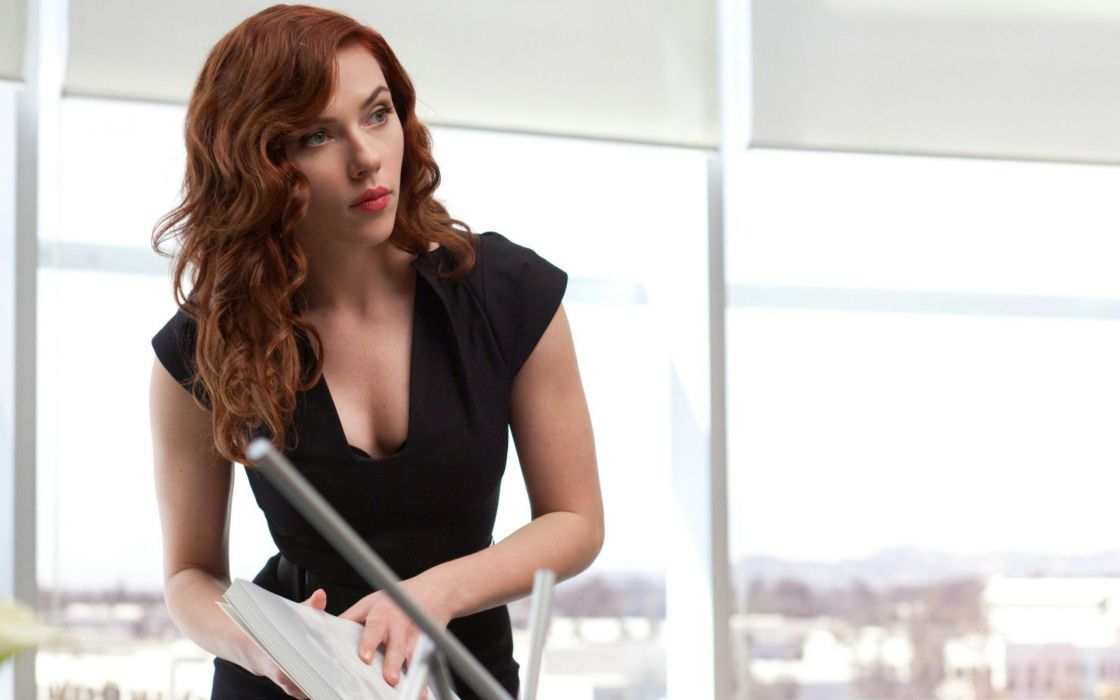 women Scarlett Johansson actress redheads models Black Widow Natasha Romanoff Iron Man 2 wallpaper