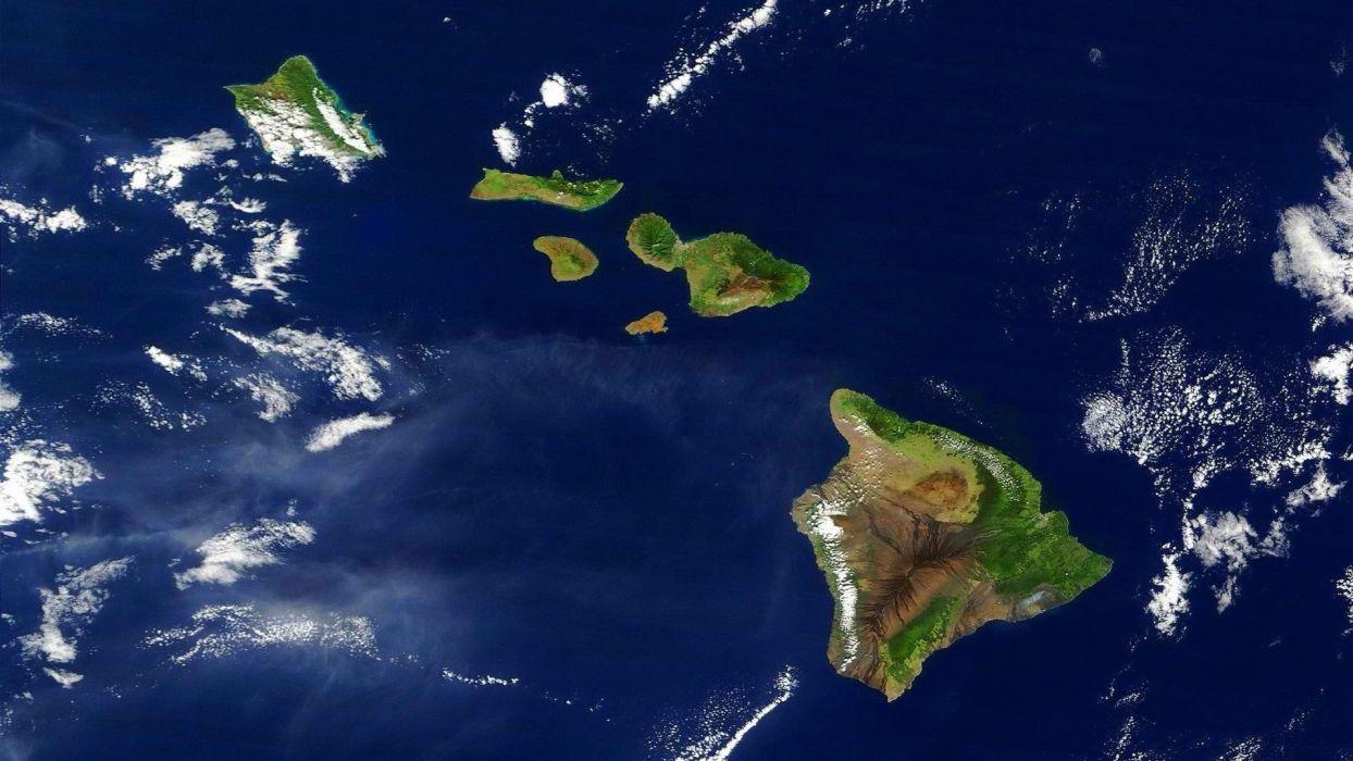satellite islands wallpaper