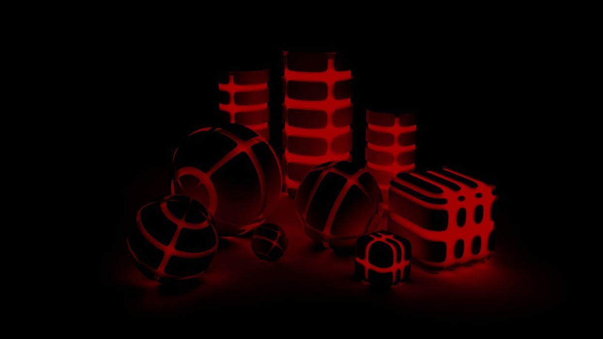 black dark red shapes wallpaper