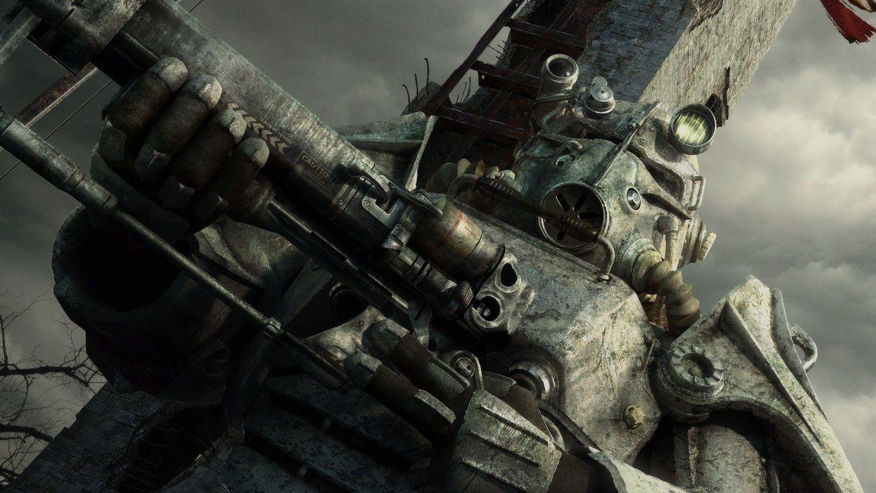video games Fallout CGI Brotherhood Of Steel Fallout 3 washington monument wallpaper