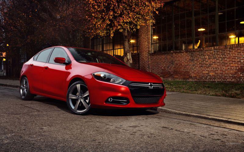 cars red cars Dodge Dart wallpaper