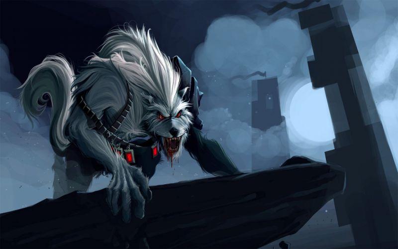 video games League of Legends Warwick Riot Games wallpaper