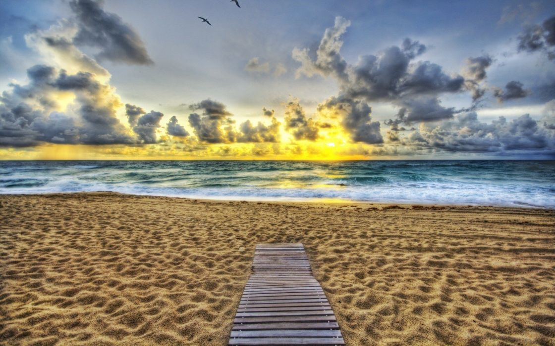 HDR photography skyscapes beaches wallpaper