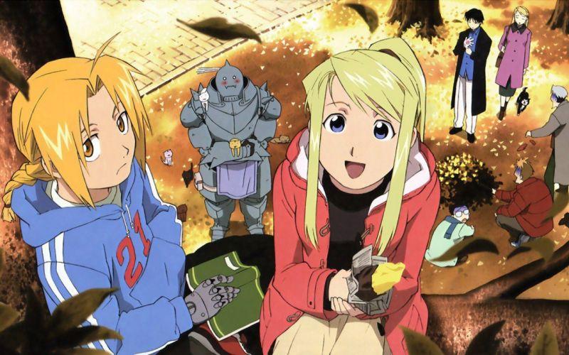 Elric Alphonse Elric Edward Rockbell Winry anime wallpaper