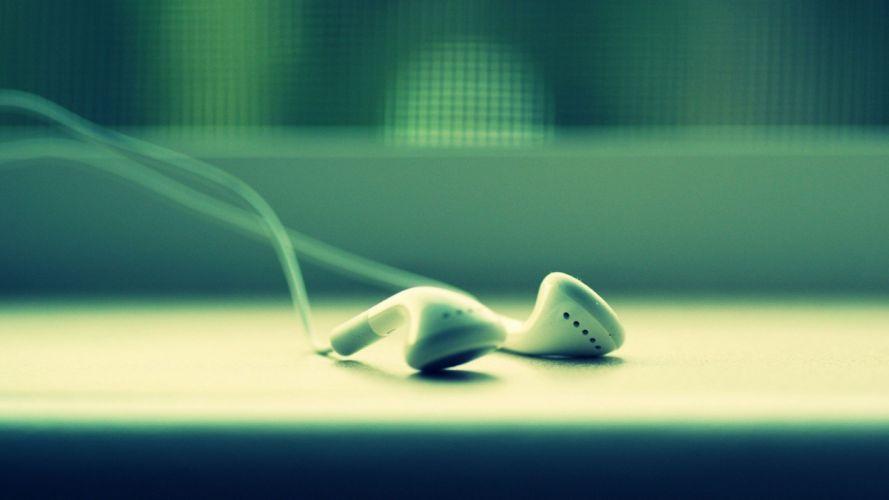 headphones music iPod electronics earphones objects wallpaper