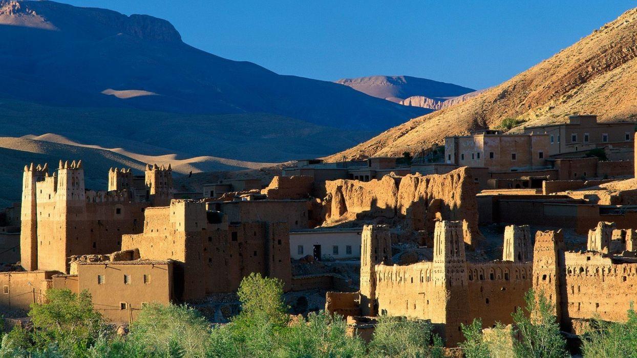 mountains ruins atlas Morocco wallpaper