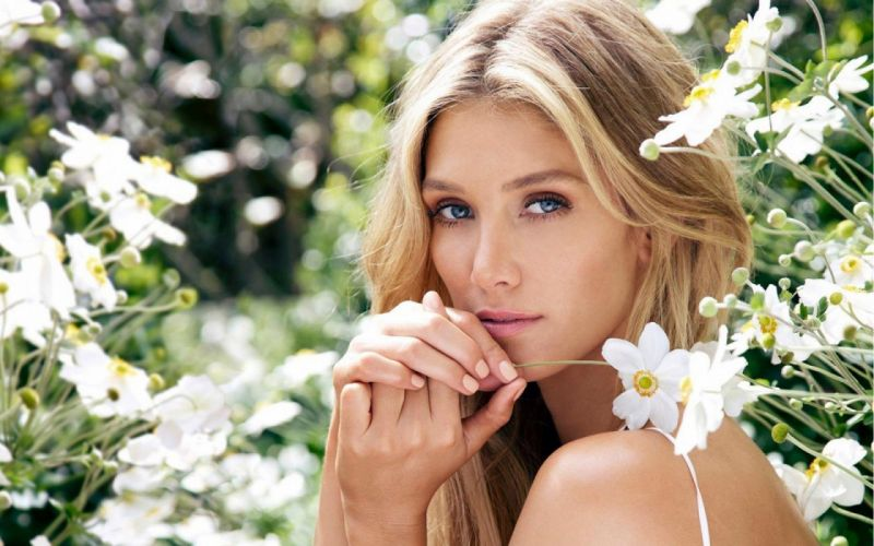 blondes women blue eyes Delta Goodrem wallpaper