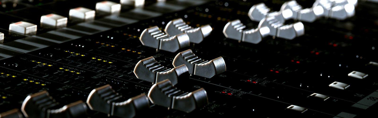 music mixing tables DJ Faders wallpaper