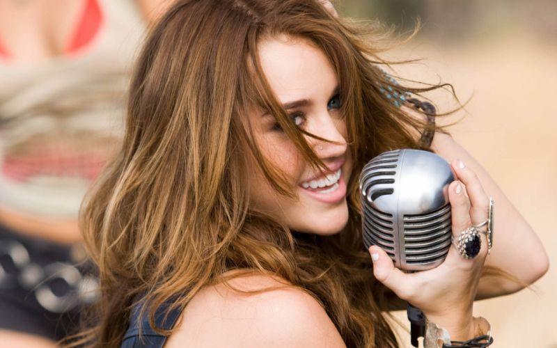 women Miley Cyrus celebrity singers wallpaper