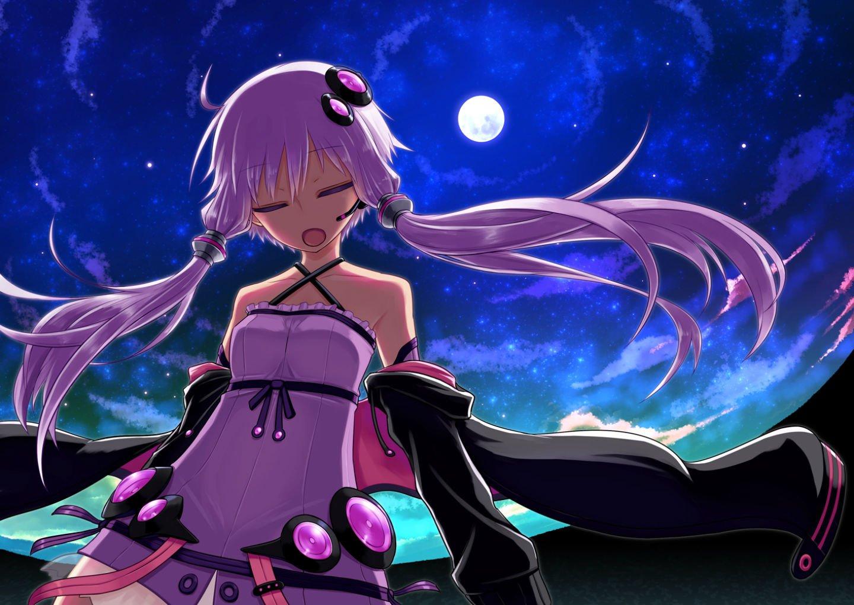 Аниме с фиолетовыми волосами картинки
