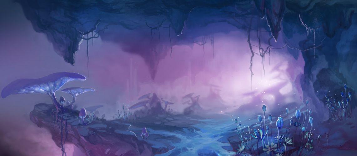 Pixiv Id 454919 jungle mushroom forest magical original fantasy g wallpaper