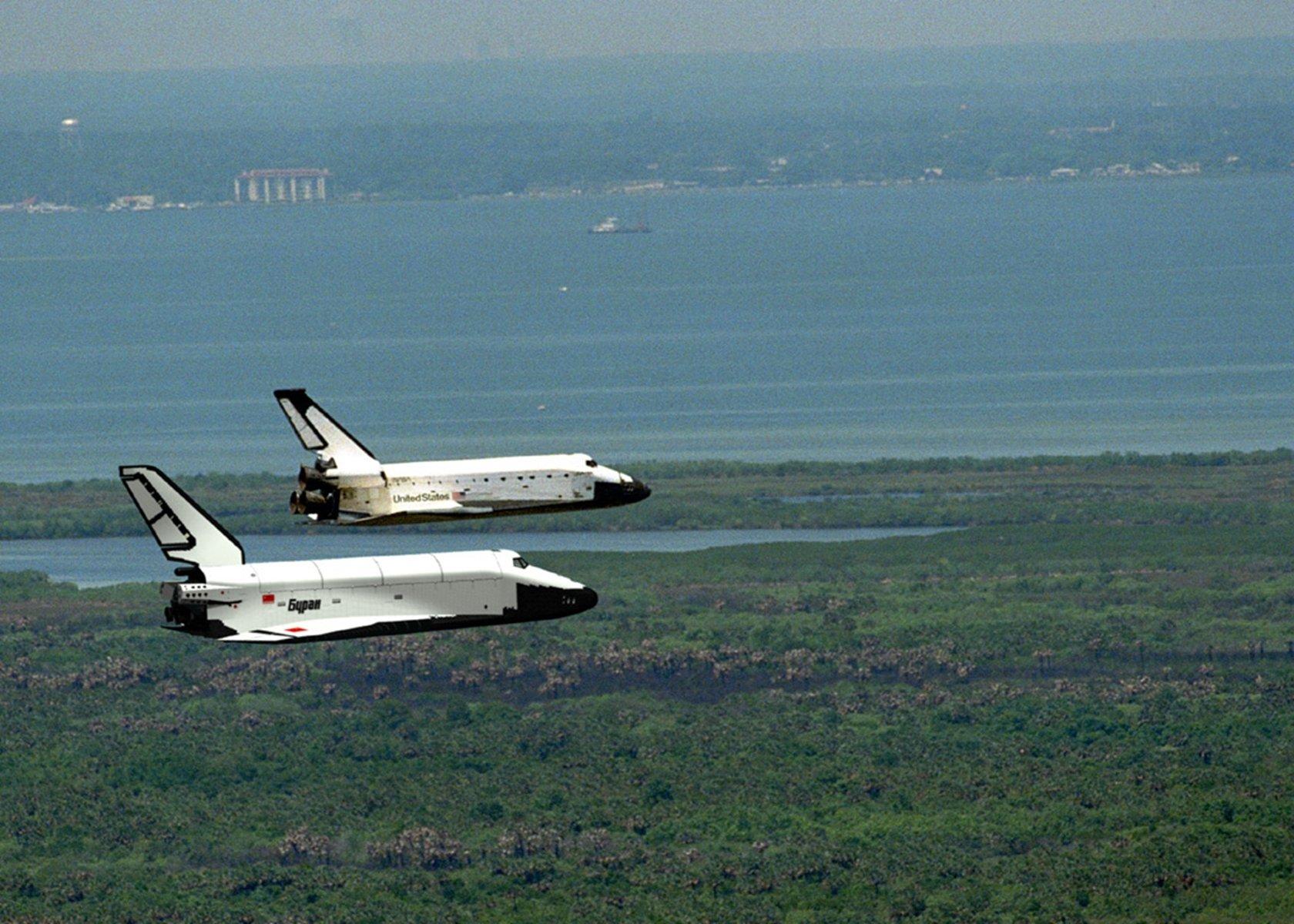Space Shuttle Buran Russian Space Cccp Urrs Soviet Vkk Nasa