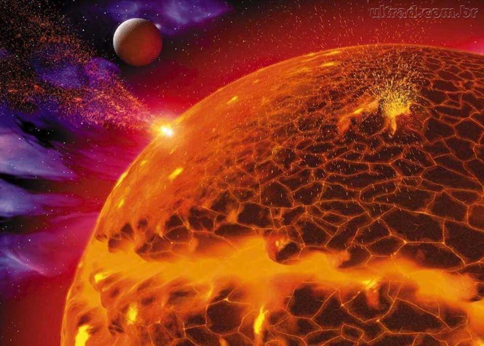 space sun planet wallpaper