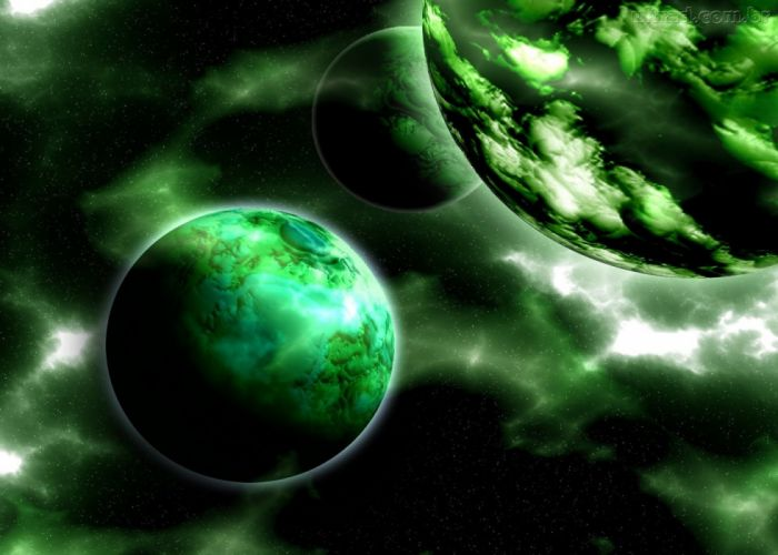 planet green space wallpaper