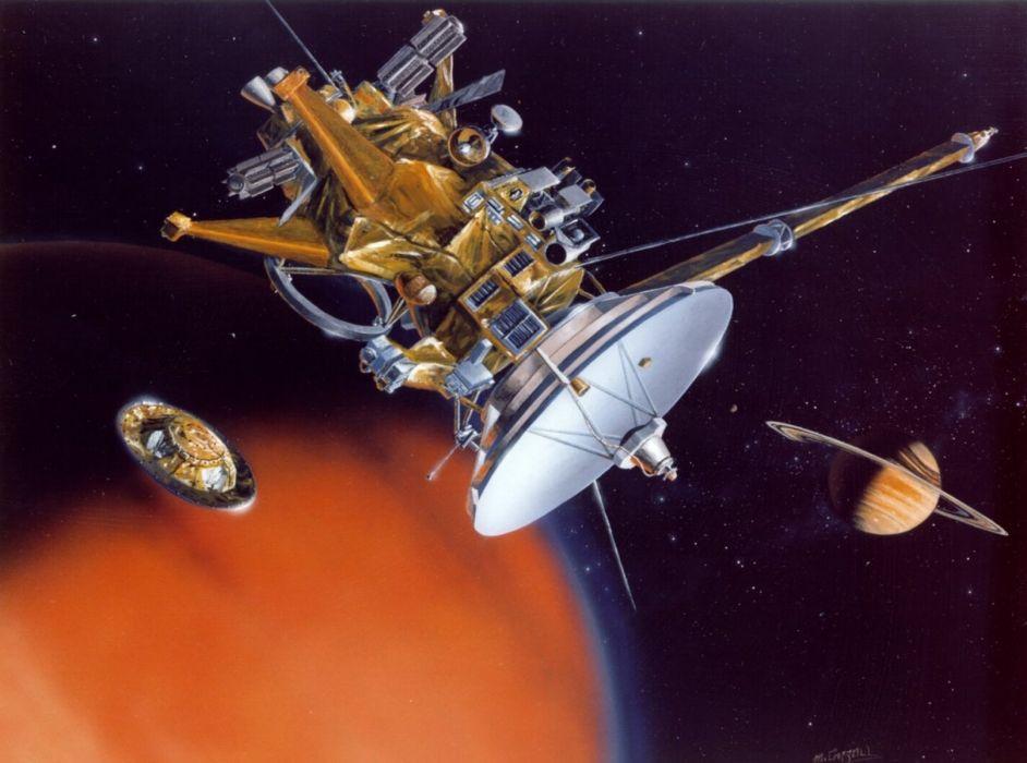 Cassini Huygens Titan 1614x1200 wallpaper