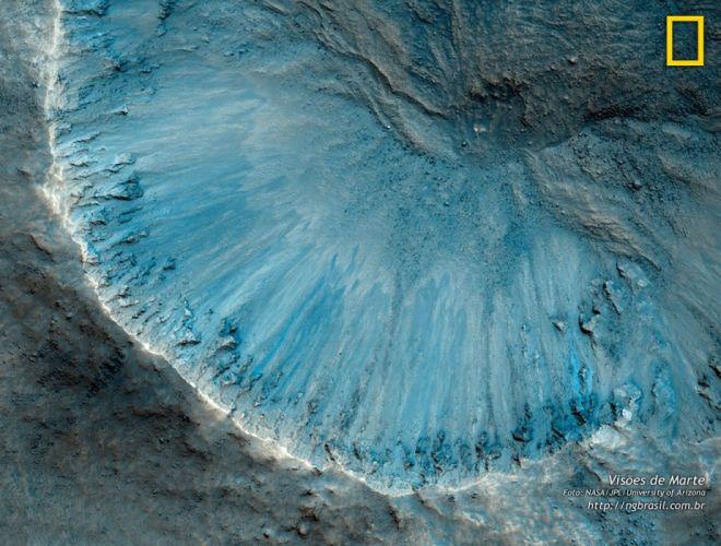 mars red planet space nasa jpl crater basement wallpaper