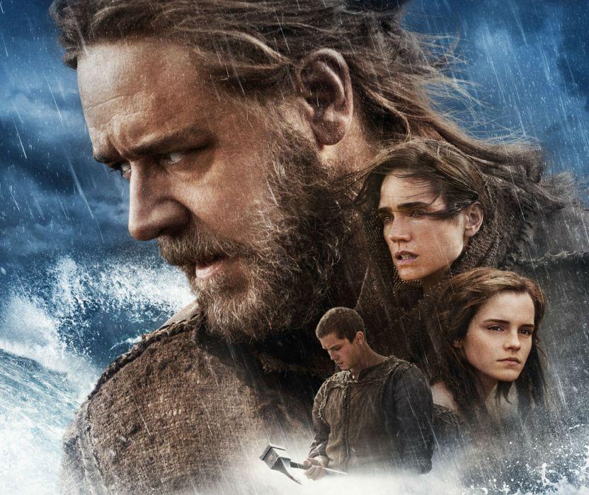 NOAH adventure drama religion movie film poster crowe emma watson wallpaper