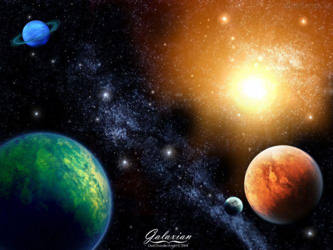 space planet sun wallpaper