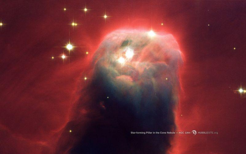 hubble space nasa pilar cone nebula ngc 2264 wallpaper